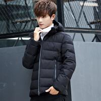 反季清仓新款男士加厚连帽羽绒服男学生冬季短款修身轻薄外套