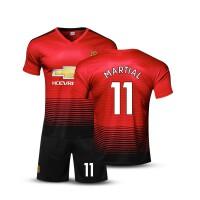 曼联短袖足球服套装男儿童比赛队服训练服定制印号6号博格巴7号桑切斯球衣