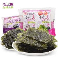【促销】韩国韩福10.2烤紫菜海苔 韩国进口紫菜海苔包饭拌饭2g*8包