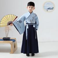 儿童汉服中国风古装少爷服唐装国学服套装小书童演出服秋