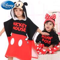 迪士尼Disney儿童连帽浴巾 纯棉浴巾斗篷 宝宝披风沙滩巾 浴袍
