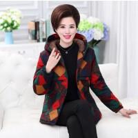 妈妈棉袄女冬 短款冬装外套30-40岁中年加绒时尚中老年棉衣50