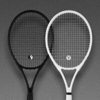 网球拍单人专用初学者套装碳纤维全碳素男女通用情侣一体训练 球拍拍包训练器C套餐 白色