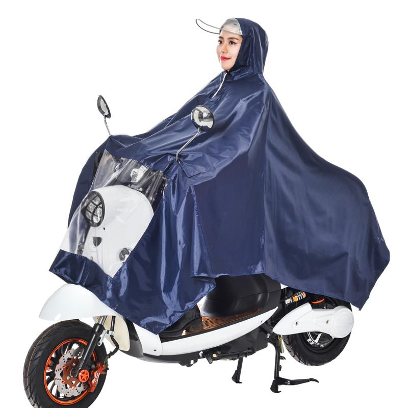 踏板摩托车大雨披 超大单电动特大码摩托车雨衣夜光踏板雨披加大号遮脚  X