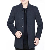 中年男士毛呢外套羊毛夹克男韩版休闲秋冬季中老年爸爸装40/50岁