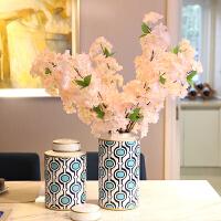 家居装饰品摆件 陶瓷仿真花瓶套装假花客厅餐桌电视柜玄关摆设