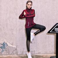 新款健身运动套装女瑜伽服跑步大码宽松专业速干衣健身服套装