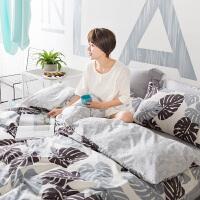 四件套全棉纯棉卡通1.5米1.8m床单被罩床笠款双人床上用品三件套