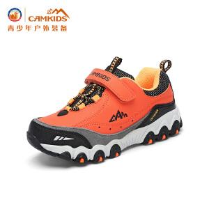 CAMKIDS垦牧男童登山鞋2017春季新款 透气耐磨徒步鞋儿童运动鞋