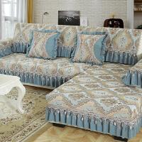 欧式沙发垫布艺防滑单层雪尼尔沙发坐垫客厅四季沙发套全包�f能套