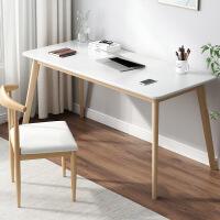 【1件3折 领券】北欧书桌简约家用电脑台式桌学生写字台办公现代卧室实木腿桌子
