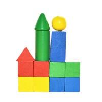 晨光99854木质几何体 一年级数学教具 几何体立体图形