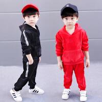 男童冬装套装儿童金丝绒两件套1-5岁宝宝秋冬双面绒衣服
