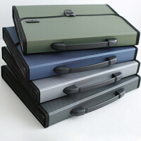 得力A4风琴包多层文件夹学生试卷商务多层文件事务包资料册整理收纳夹大容量手提收纳包多功能学生用试卷袋
