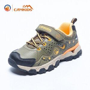 CAMKIDS儿童鞋男童 登山鞋2018春季新款儿童户外运动鞋透气