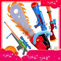 熊出没光头强电锯仿真枪儿童玩具套装帽子四件抢可发射4/6岁男孩k2v