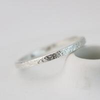 石纹戒指 原创情侣戒指一对银简约开口 男女学生活口戒指新品