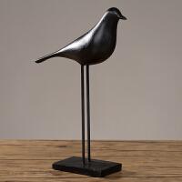 北欧现代田园树脂装饰品摆设创意小鸟动物摆件 新房婚庆生日礼品