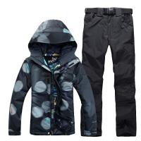 单板双板滑雪服女套装冬季加厚户外防风防水透气保暖滑雪衣裤