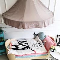 伊丝洁家纺秋款儿童女童双层纱布全棉卡通宝宝睡袋防踢被幼儿园睡袋 110cm