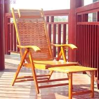 躺椅带脚拖加长躺椅不加脚拖折叠户外实木躺椅