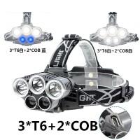 3T6头灯5核LED强光USB充电超亮远射3000米夜钓鱼头戴式打猎疝气灯
