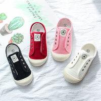儿童帆布鞋女童小白鞋新款秋季男童板鞋子