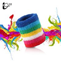 运动护腕篮球护具羽毛网球擦汗儿童纯棉护腕健身吸汗手工制作 一只装加强版 8x8cm