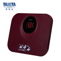 百利达(TANITA) 体重秤 电子秤 家用精准成人称重人体秤 健康称 日本品牌 HD-394 酒红