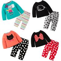新生儿套装男女宝宝婴儿衣服长袖0岁3个月秋季秋冬装两面穿童套装