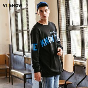 VIISHOW2018新款卫衣潮牌男士圆领套头春季长袖外套青年学生装