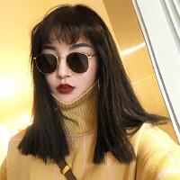 原宿嘻哈风小框圆脸太阳眼镜圆框复古女近视墨镜潮