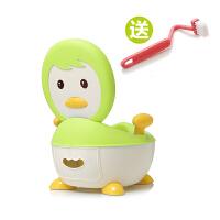 儿童坐便器男婴儿宝宝坐便器女儿童小马桶宝宝尿盆便盆 浅绿 送刷子