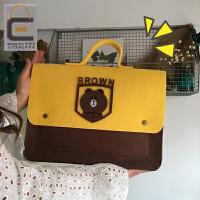 创意定制款卡通笔记本电脑包学生收纳包可爱手提包手拿平板包