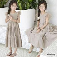 女童夏装甜美连衣裙2018新款韩版儿童纯棉沙滩长裙子中大童公主裙