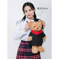 订造香港毕业公仔博士帽小熊娃娃博士熊学士服公仔袍礼物定制DIY