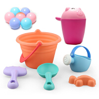 宝宝洗澡戏水玩具 婴幼儿童戏水沐浴套装海洋球 波波球趣味渔网小猫捞鲨鱼 软胶动物捏捏叫发声玩具