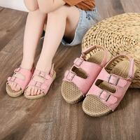 儿童凉鞋中大童防水露趾运动沙滩鞋软底女童休闲凉鞋