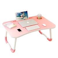 床上小桌子笔记本电脑桌懒人书桌宿舍可折叠写字简易家用可折叠支架神器写字台儿童餐桌窗台加高便携式