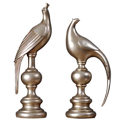 酒柜摆件家居电视柜家具客厅玄关卧室内小鸟摆饰欧式