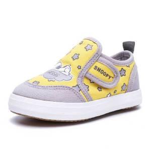 史努比童鞋春季新款宝宝帆布鞋1-3岁学步鞋男宝宝防滑软底鞋
