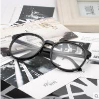 镜框韩版平光眼镜有镜片男女士款潮复古豹纹装饰眼睛近视眼镜框架户外新品网红同款