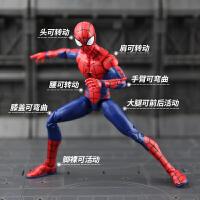 漫威钢铁侠蜘蛛侠3复仇者联盟4手办模型可动人偶玩具套装美国队长