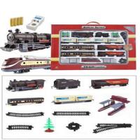 奋发轨道玩具 9.4米轨道电动火车模型 托马斯小火车玩具 古典豪华盒装+现代火车头 加充电套装螺丝刀 官方标配