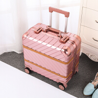 七夕礼物铝框拉杆箱18寸复古旅行箱16行李箱小型密码箱商务男女士潮登机箱