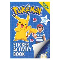 The Official Pokemon Sticker Activity Book 宝可梦口袋妖怪 英语贴纸活动书
