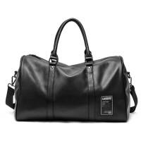 简约男士旅行包出差休闲手提商务行李袋健身包运动包短途旅游单肩rf 黑色 大