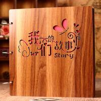 木质diy相册手工创意情侣浪漫相册本影集纪念册拍立得情人节礼物