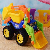 沙滩工程车宝宝儿童玩具车推土机挖掘机铲车翻斗车带助力模型