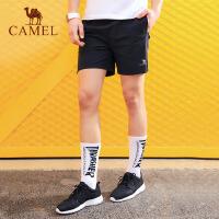 camel骆驼运动短裤 春夏男款舒适休闲 健身跑步宽松运动裤
